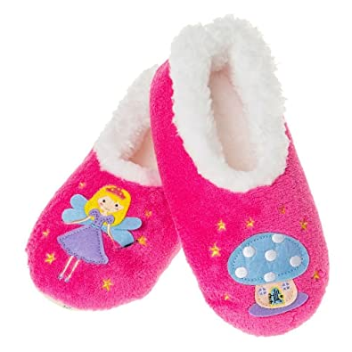 88a2b240aca Snoozies Girls Pretty Fairy Pink Fleece Slippers