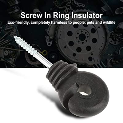 Fence Posts,Type Ring Insulator Electric Meadow Fence Wood Post Accessory 20 Pcs Electric Fence Insulators Electric Fence Wire T Post Screw-in Insulator Fence Ring for Wood Post