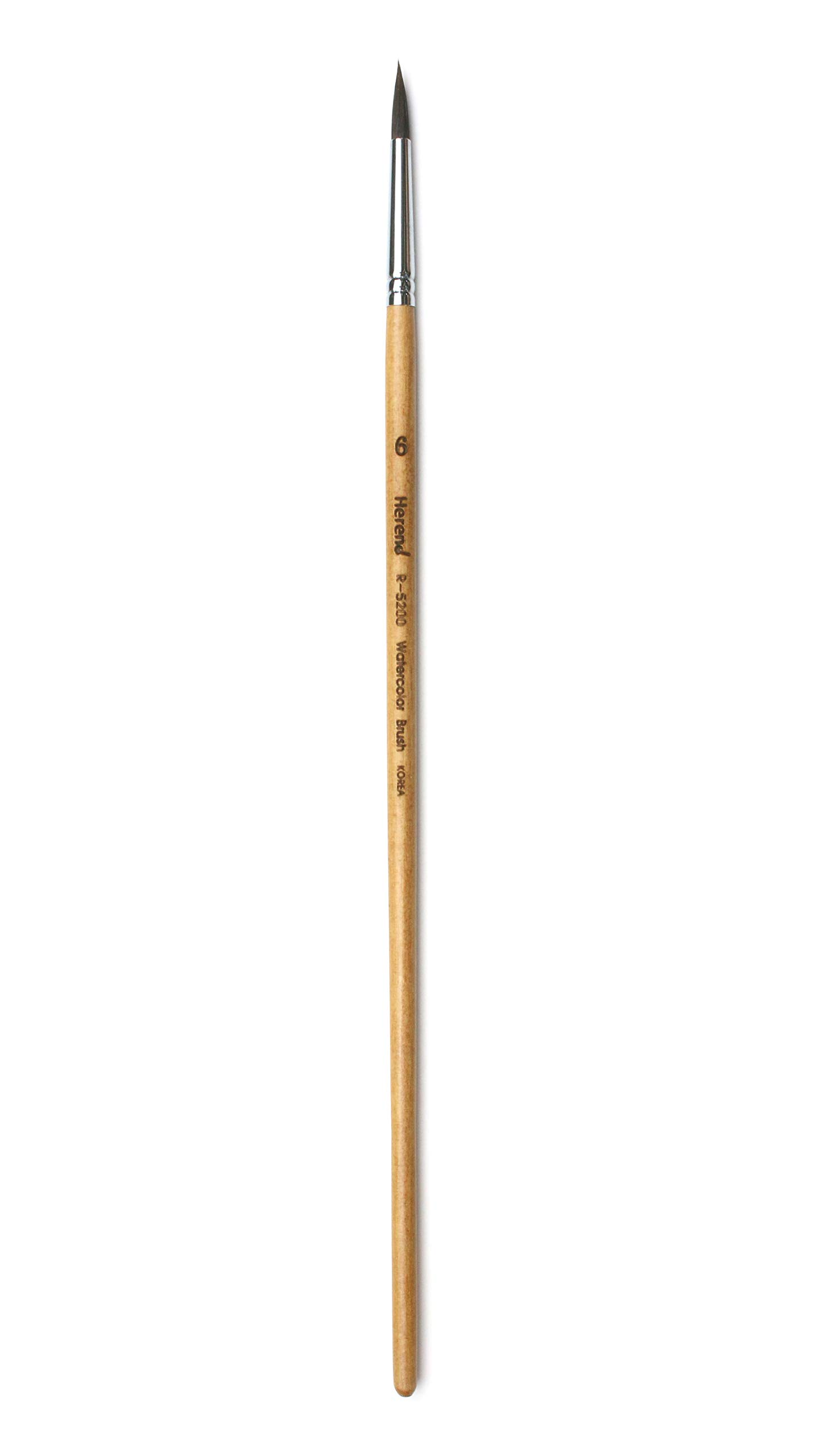 Herend Brush Series R-5200 (No.4 ~ No.20) for Watercolor with Squirrel Hair/Round Ponited Paintbrush (No.06) by Herend Brush