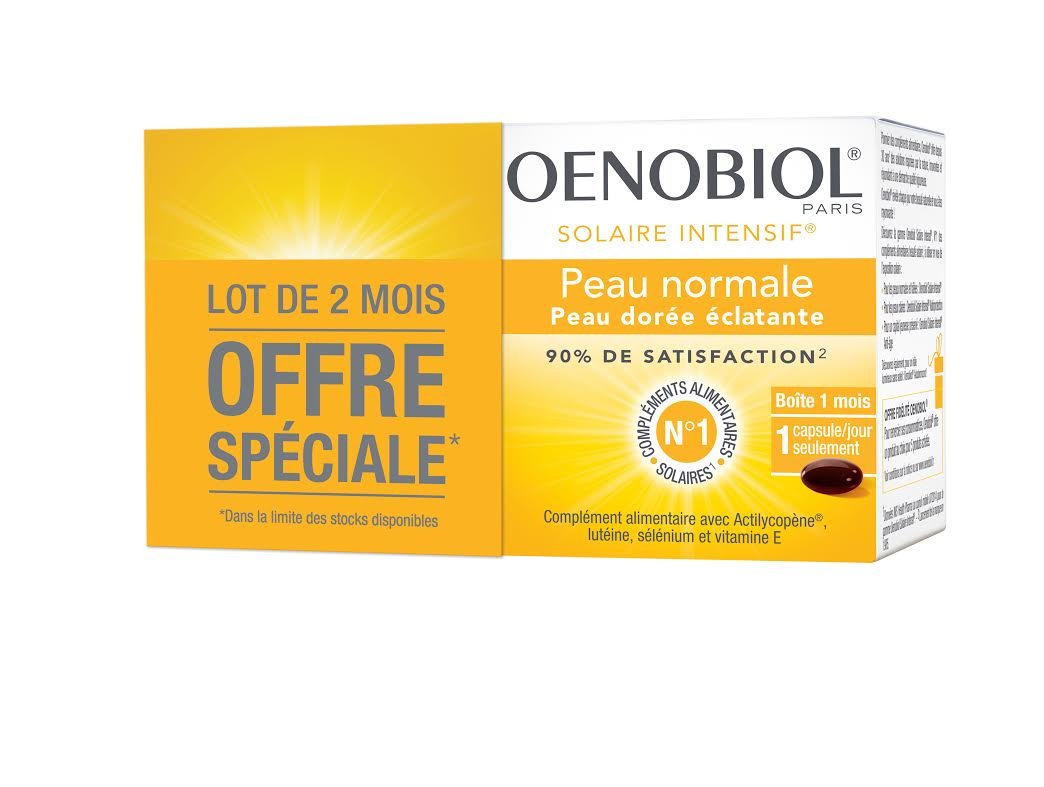 Oenobiol solaire intensif lot de 2 x 30 dragées  Amazon.fr  Hygiène et  Soins du corps 6b16a855f0f5