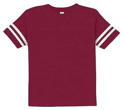 a91a72e19 Rabbit Skins Toddler Football Fine Jersey T-Shirt, Vn Burgundy/Bd White,