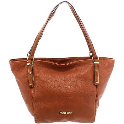 72e82b989d2c Franco Sarto Womens Rachel Faux Leather Signature Tote Handbag Brown  Medium  Handbags  Amazon.com