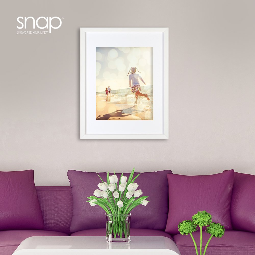 Amazon snap 11x14 white wood wall frame with 8x10 single amazon snap 11x14 white wood wall frame with 8x10 single white mat opening 09fw430 home kitchen jeuxipadfo Gallery