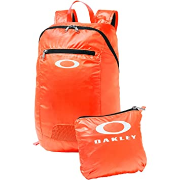 Oakley Mens Packable Backpack One Size Coral Glow Black