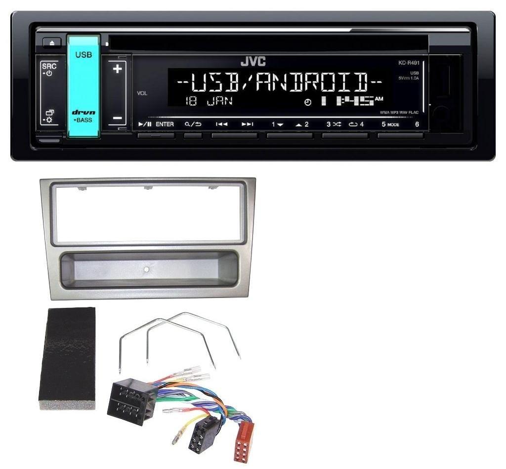 JVC KD-R491 MP3 1DIN CD USB Aux Autoradio fü r Opel Corsa C Meriva Signum Vectra C 2000-2004 Charcoal caraudio24