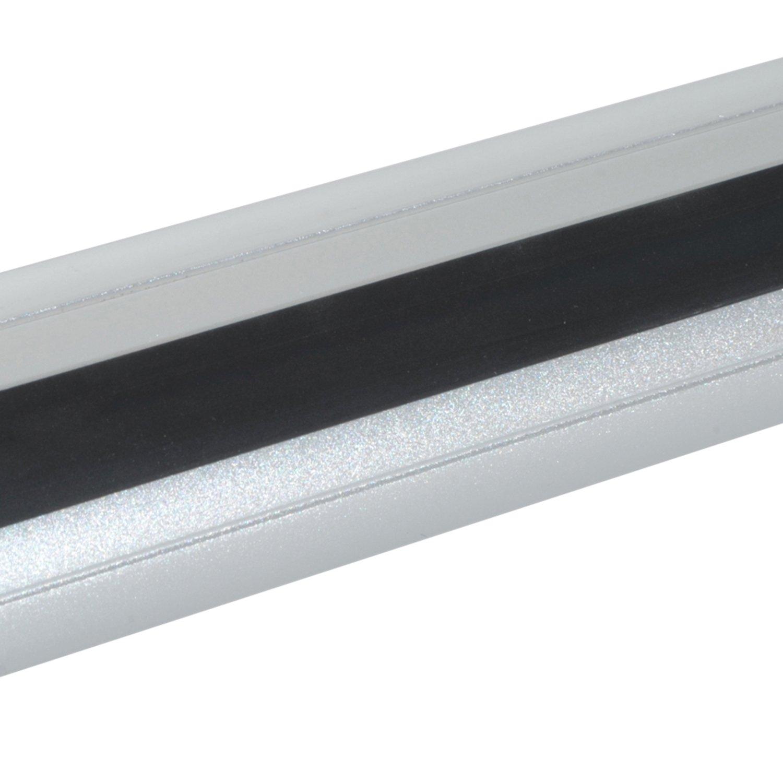 Homcom Barres de Toit universelles verrouillables pour Voiture Aluminium 125L x 13l x 7H cm Gris Noir