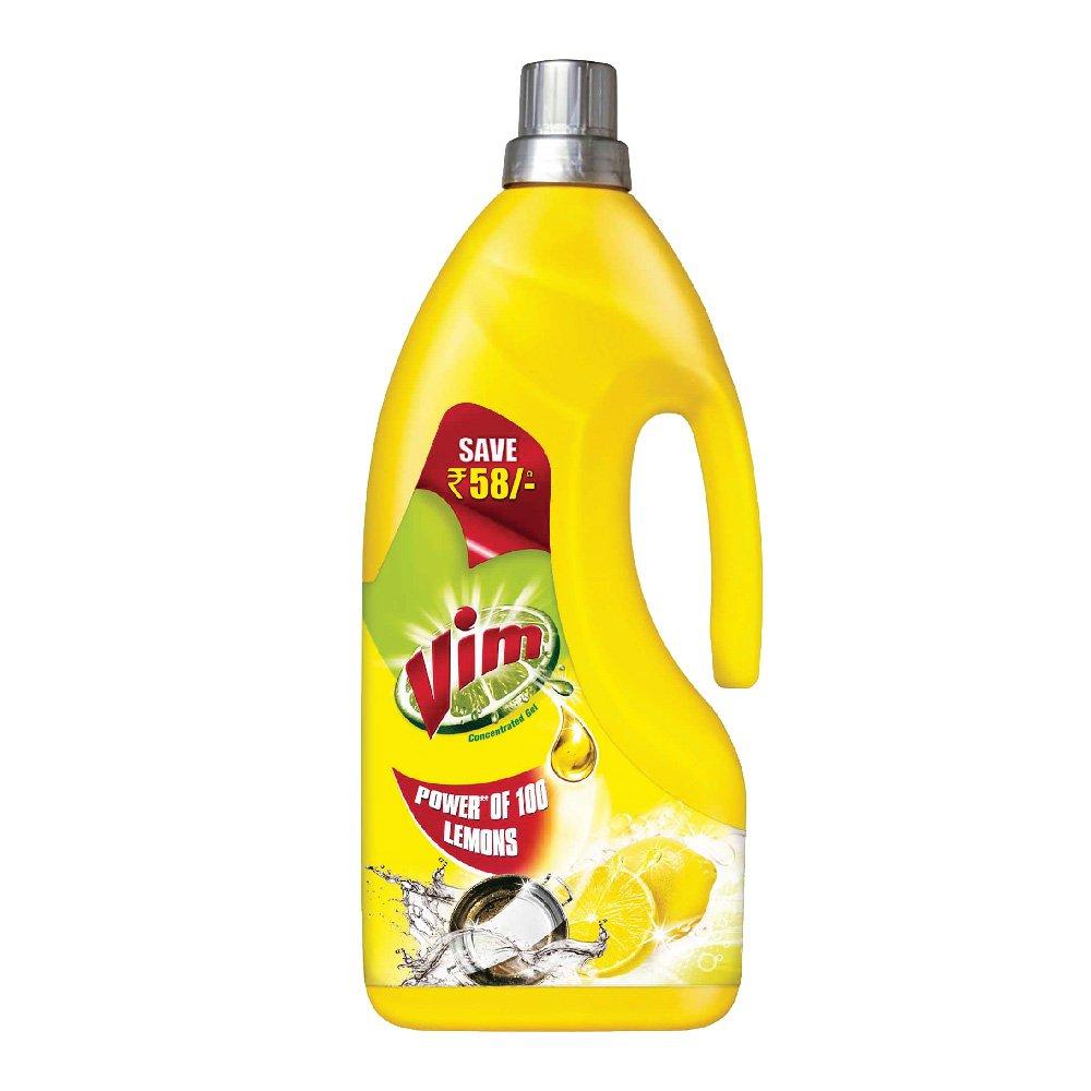 Vim Dishwash Gel, Lemon, 1.8 L