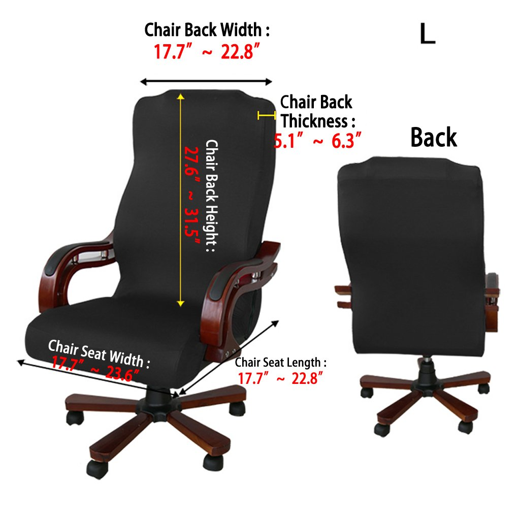 Superbe Amazon.com: BTSKY Back Office Chair Covers Stretchy For Computer Chair/Desk  Chair/Boss Chair/Rotating Chair/Executive Chair Cover, Large Size, ...
