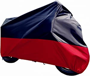"""Tokept Black and Red Motercycle Cover Waterproof Sun UV Dustproof XL 96"""" for All Scooter and Mopeds-Yamaha Honda Suzuki Kavasaki Ducati BMW"""