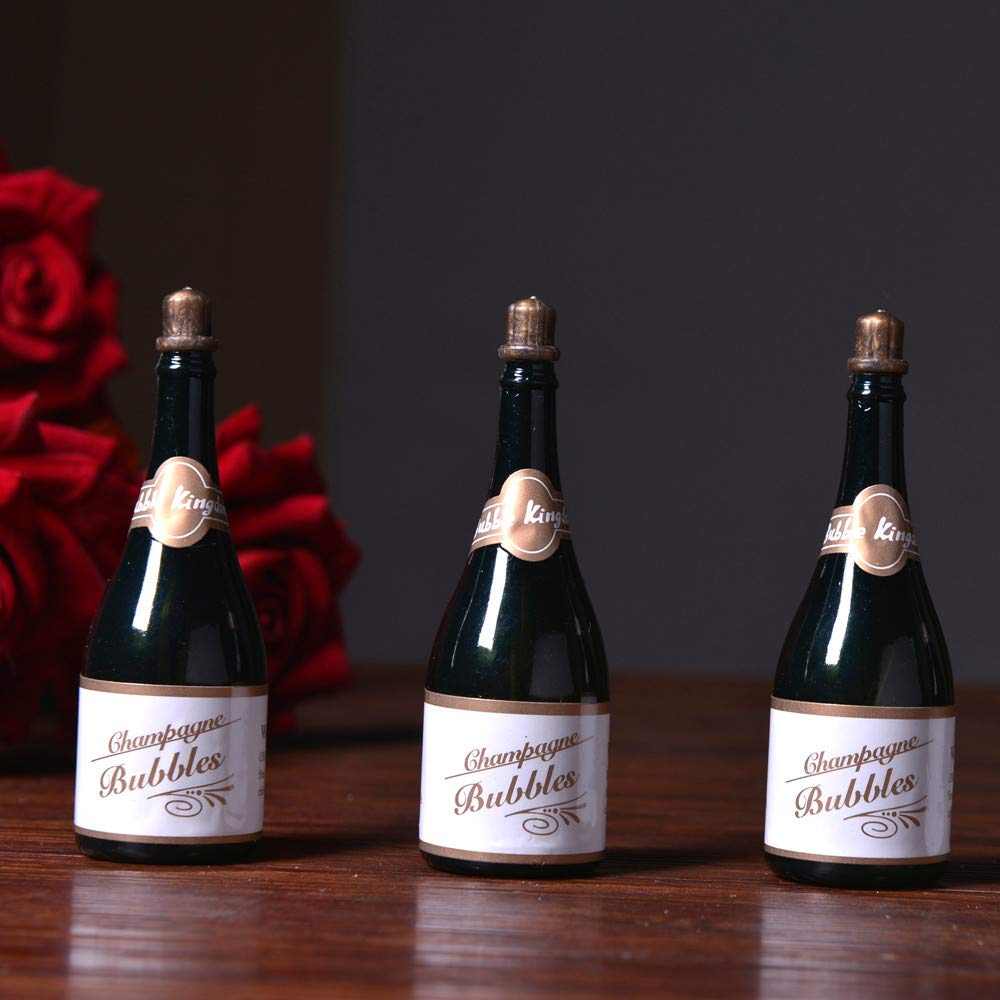 6x Mini Champagne Bubbles Bottle Soap Water Bubbles Bottle Party Wedding Favors