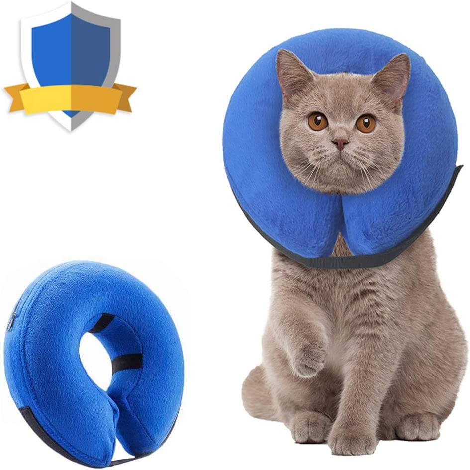 Amazon Com Supet Dog Cones After Surgery Protective Inflatable Dog Collar Pet Recovery Collar Soft Pet Cone For Small Medium Or Large Dogs And Cats Anti Bite Lick Wound Healing Pet Supplies