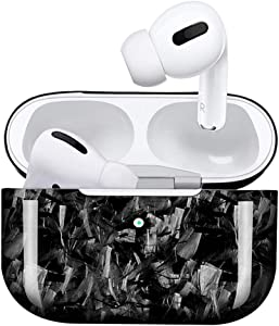 MONOCARBON Forged Carbon Fiber Case for AirPods Pro Wireless Charging Case Slim Carbon Fibre Cover for Apple Air Pods 3 Earbuds Cover - Glossy Finishing