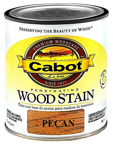 Cabot 1440008127005 Interior Wood Stain, Pecan - Quart ()