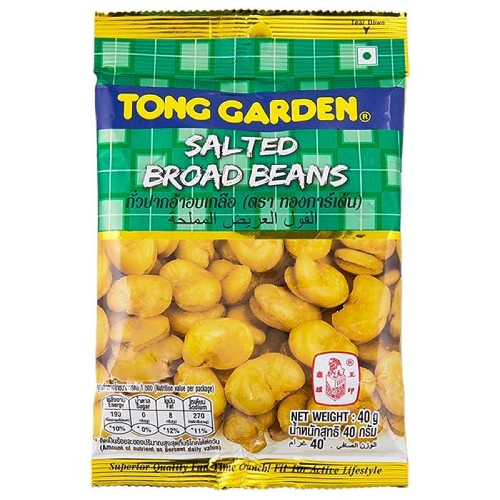 TONG GRADEN BRAND, Salted Broad Beans, Crispy baked beans 40g X 6 Packs