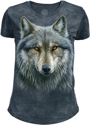 The Mountain Mens Yin Yang Wolves Adult T-Shirt