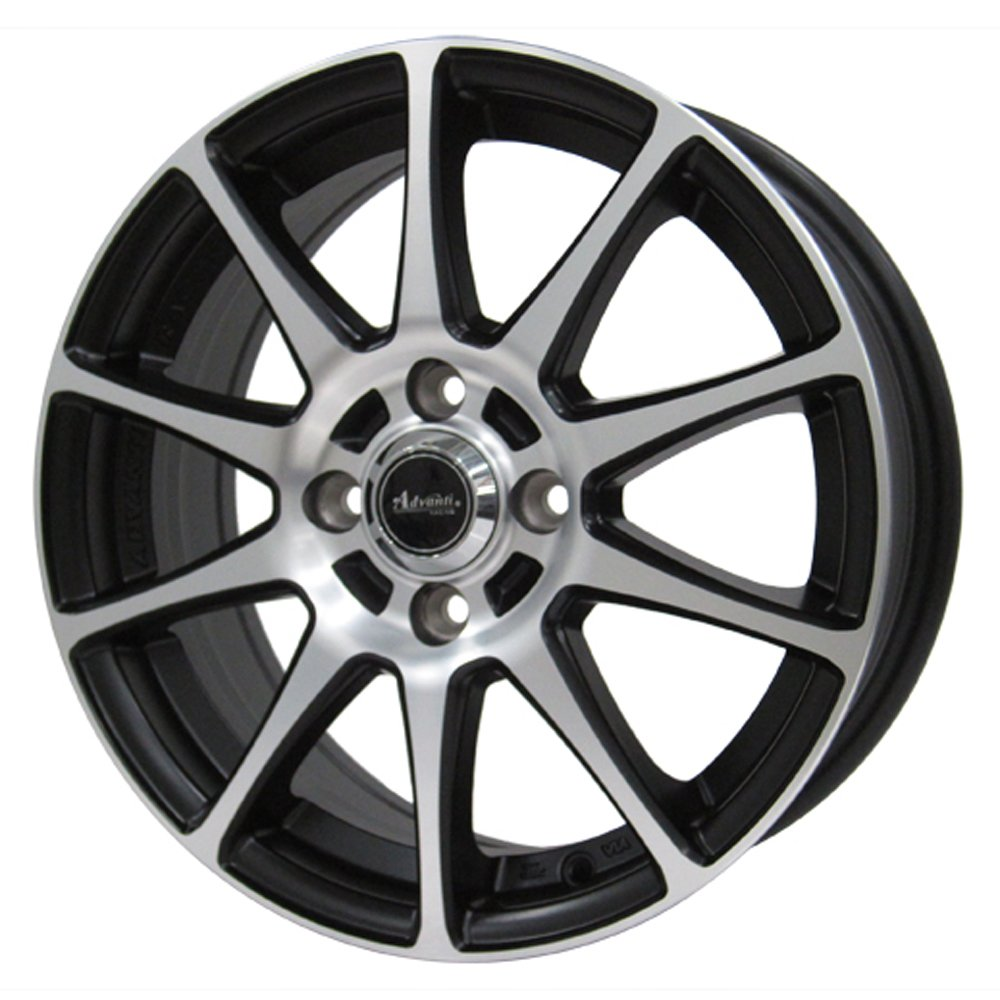 NANKANG(ナンカン) サマータイヤ&ホイールセット ECO-2 + 165/55R14 Advanti(アドバンティ) 14インチ 4本セット B01NALE5HD