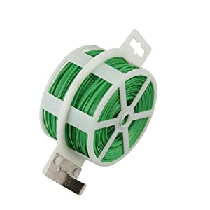 Shintop 328 Feet Garden Plant Twist Tie with Cutter for Gardening, Home, Office (Green)