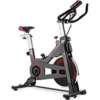 FITFIU Fitness BESP-70 Bicicleta indoor con disco de inercia de 13kg, pantalla LCD y pulsómetro, Bici entrenamineto…