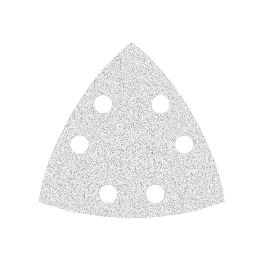 50 Feuilles abrasives auto-agrippantes MioTools pour ponceuse delta - 93 mm - grain 400 - 6 trous