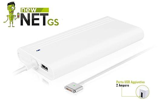21 opinioni per ALIMENTATORE NEWNET COMPATIBILE A1398, A1424 85W Magsafe 2 + Porta USB