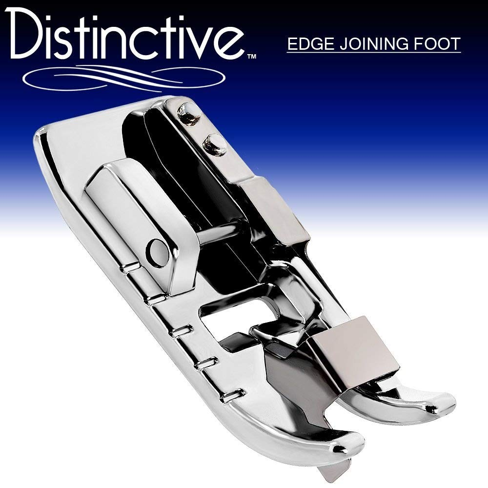 Distinctive Edge Joining/Stitch in the Ditch Sewing Machine Presser Foot - Fits All Low Shank Snap-On Singer, Brother, Babylock, Janome, Kenmore, White, Juki, New Home, Simplicity, Elna and More! DEDGEJSF