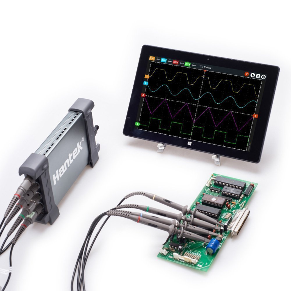 PC Based 4 Channel 70MHz 1GS//s Oscilloscope W//Built-in 25Mhz Arbitrary Function Generator Hantek 6074BD