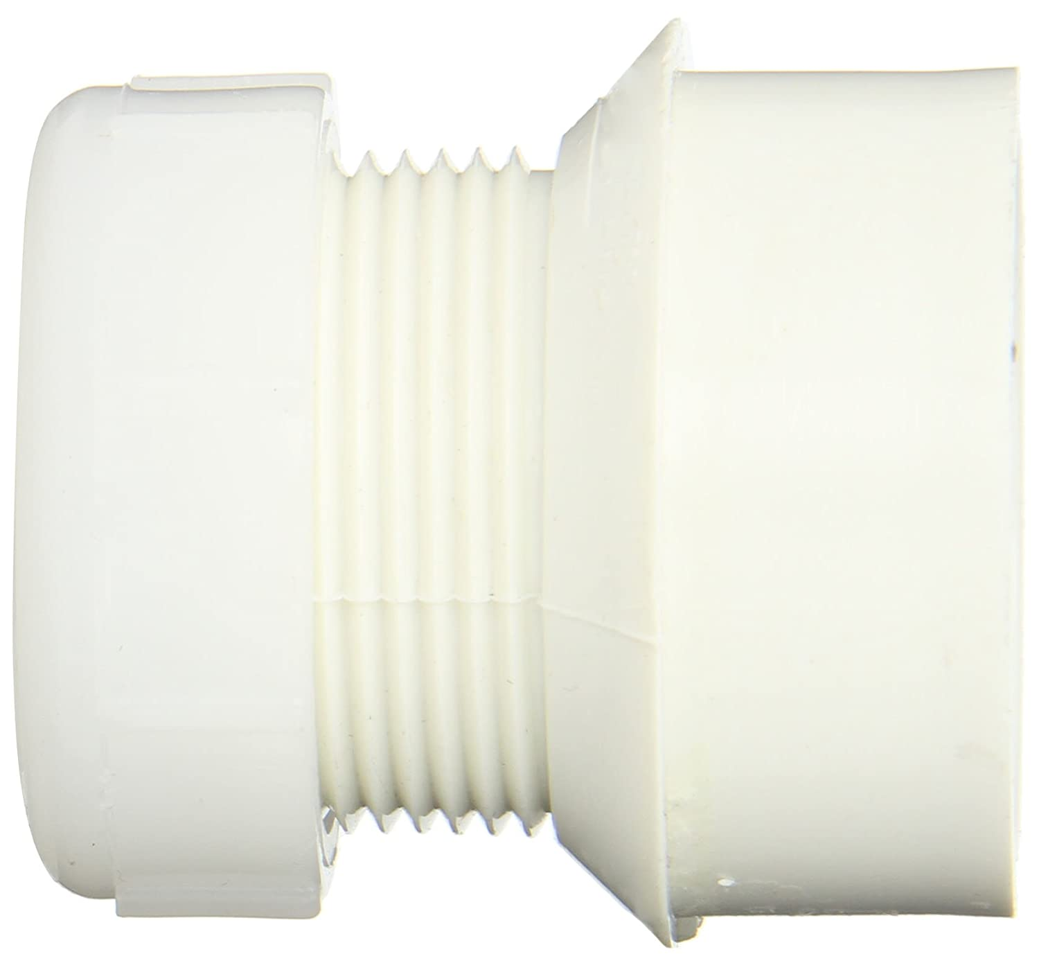 Trap Adapter with Plastic Nut 1-1//2 Hub x 1-1//2 Slip Spears P104P Series PVC DWV Pipe Fitting