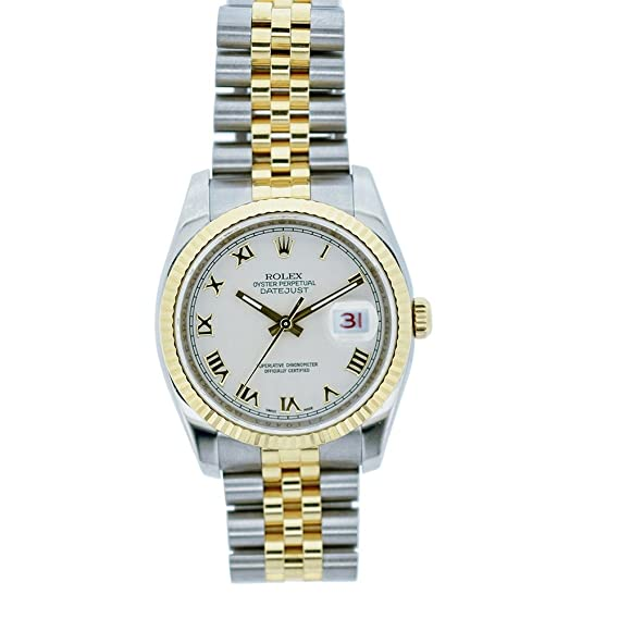 Rolex Datejust automatic-self-wind Mens Reloj 16233 (Certificado) de segunda mano: Rolex: Amazon.es: Relojes