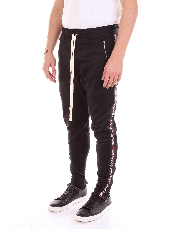 REPRESENT Mens JERSEY013BLACK Black Polyester Joggers