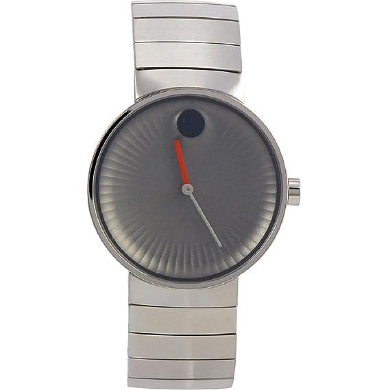 Movado borde gris aluminio Dial Swiss Quartz reloj para hombre 3680008: Amazon.es: Relojes