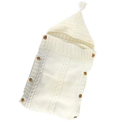 TOOGOO Manta Panales Envoltura Para Bebe Recien Nacido Bolsa De Dormir De Punto Saco De Dormir
