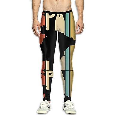 Amazon.com: Pantalones de yoga para hombre, estilo retro ...