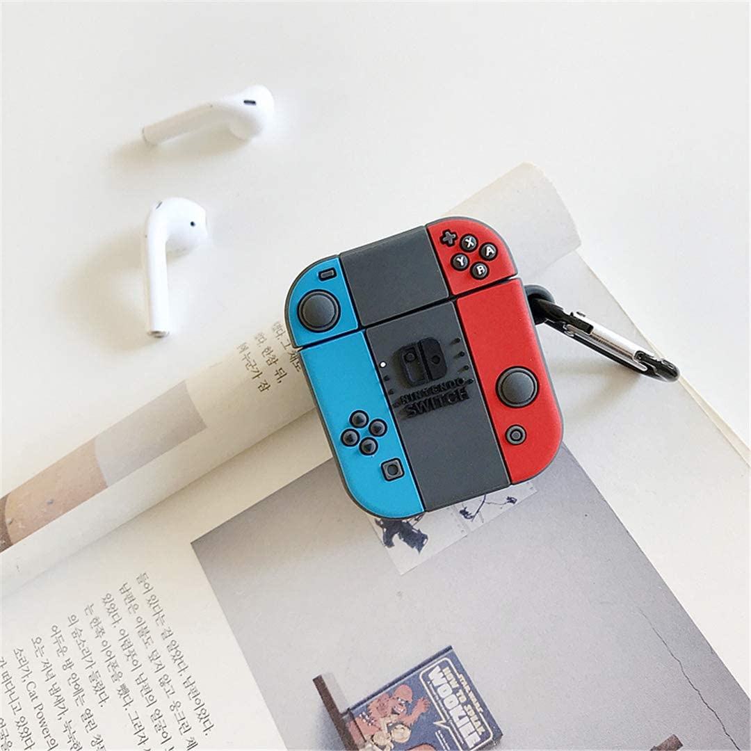 Cute Cartoon 3D Cool Air pods Design Cover Lupct Game Switch Compatible with Airpods 1//2 Case Silicone Fun Kawaii Fashion Stylish Funny Cases for Kids Girls Teens Boys Character Skin Keychain Airpod