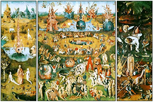 Hieronymus Bosch Garden of Earthly Delights Triptych Art Print Cool Huge Large Giant Poster Art 36x54 (Hieronymus Bosch Garden Of Earthly Delights Canvas)