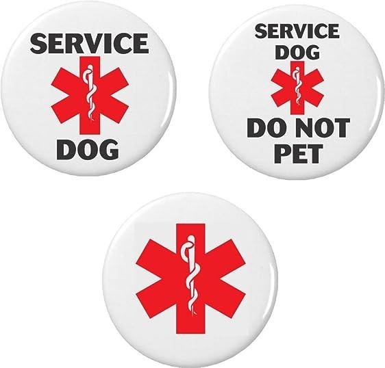 Amazon Set 3 Service Dog Do Not Pet Medical Alert Symbol