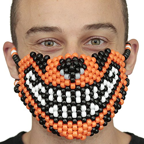Tiger Ninja Costume - Original Mask From Kandigear - Orange Tiger Kandi Rave Mask
