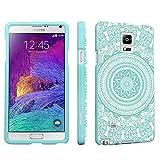 (US) DuroCase ® Samsung Galaxy Note 4 Note4 SM-N910 Hard Case Mint - (Tribal Medallion Mint)