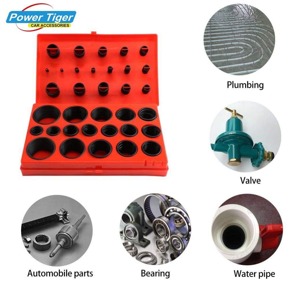 Fastener & Clip 419Pcs/Set Universal Car O Ring Metric Washer Seals Auto Plumbing Garage and Mechanics Repair Tool Kit Fastener Clips Accessory