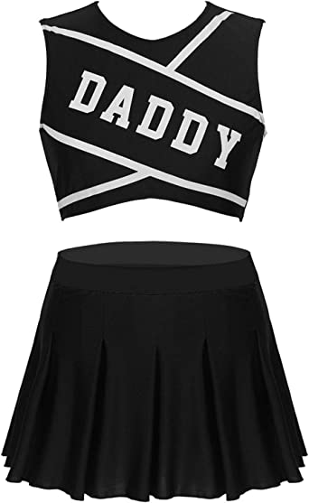 CHEERLEADER FANCY DRESS OUTFIT UNIFORM HIGH SCHOOL ROLEPLAY COSTUME DANCEWEAR