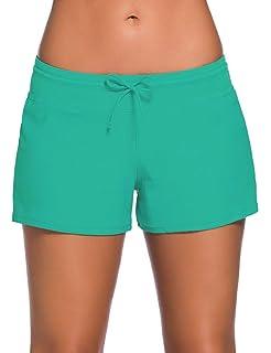 7fd7ca895e ChinFun Board Shorts Women's Swimswear Tankini Swim Briefs Swimsuit Bottom  Boardshorts Beach Trunks