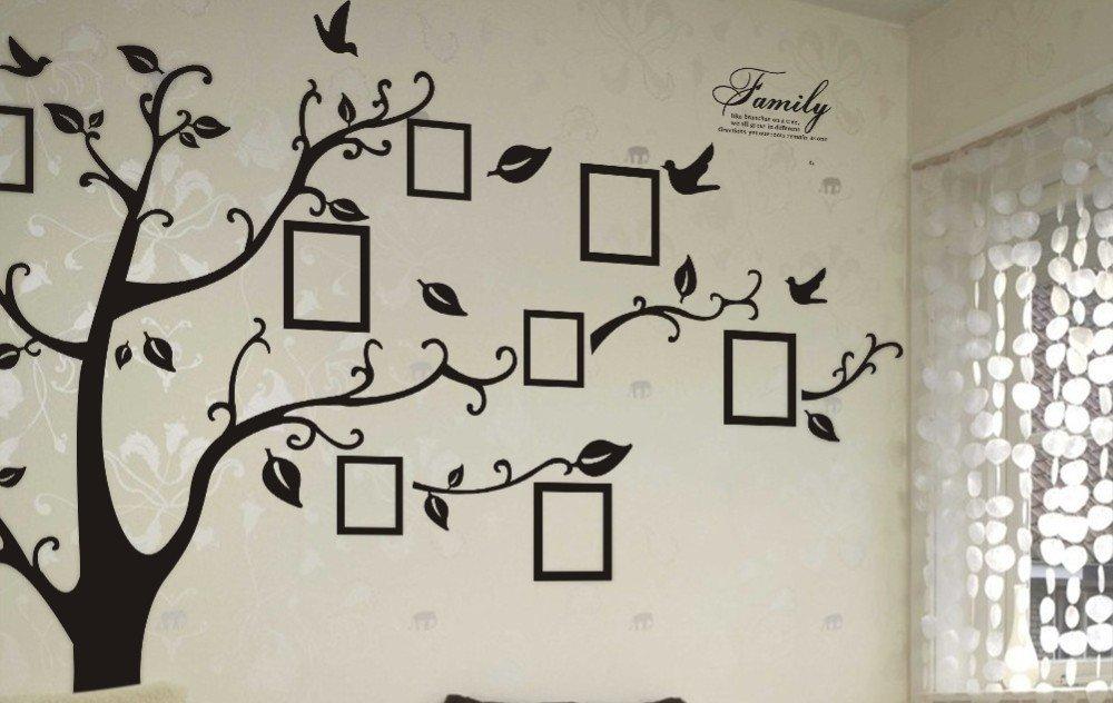 Pegatina de pared arbol genealogico decorativo para fotos familia ...