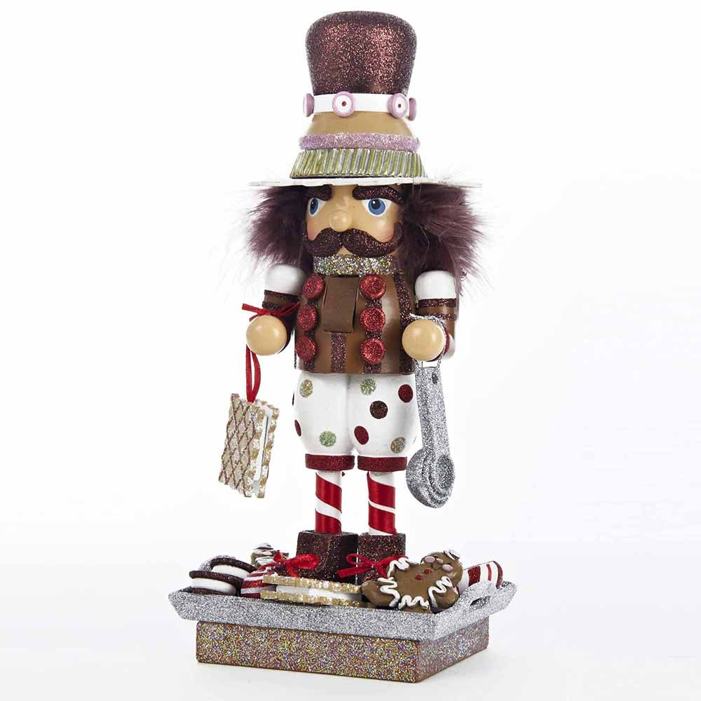 Kurt Adler Hollywood Gingerbread and Cookies Nutcracker, 12-Inch