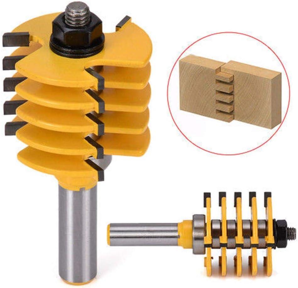 "1//2/"" Shank Box Finger Joint Router Bit Woodworking Cutter 5 Blade 3 Flutes SALE"