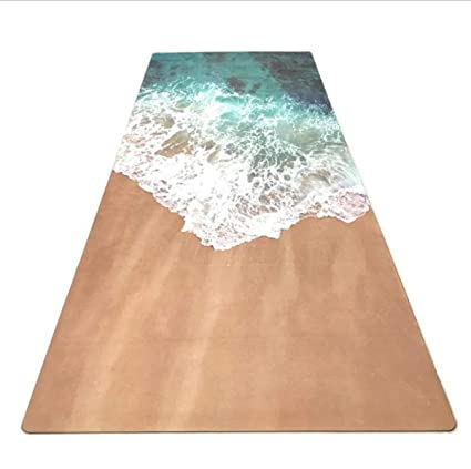 Amazon.com : New Yoga Fitness mat Fashion Wave Printed Suede ...
