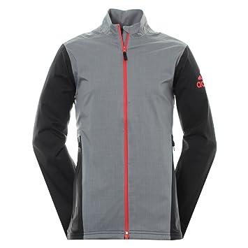 Adidas Climaproof Heathered Rain Chaqueta de Golf, Hombre, Gris, XS