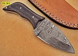 SK-263, Custom Handmade Damascus Steel Knife – Two Tone Micarta Handle Review