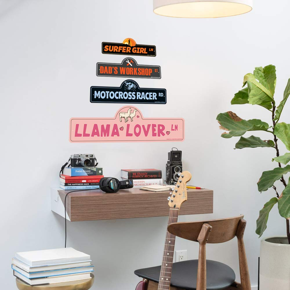 Living Rooms Bedroom SignMission Personalized Gift Offices Funny Home D/écor for Garages Demolition Derby Street Sign Indoor//Outdoor