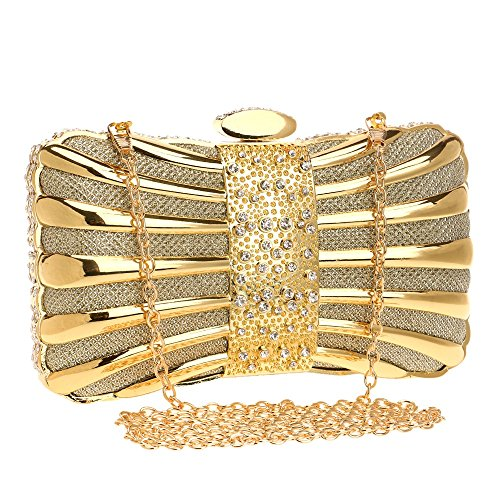 Women TuTu Elegant Diamonds Mixed Evening Clutch Tie Party Purse Evening Color Bags Crystal gold Bags BqtTq