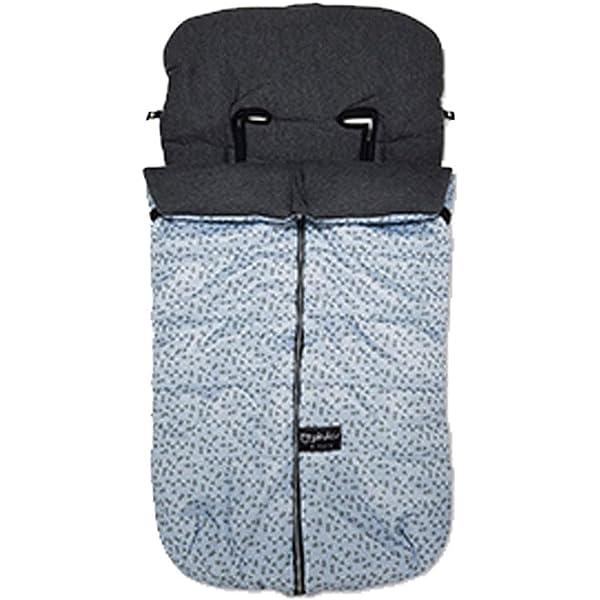 saco universal silla paseo velour negro liso pirulos