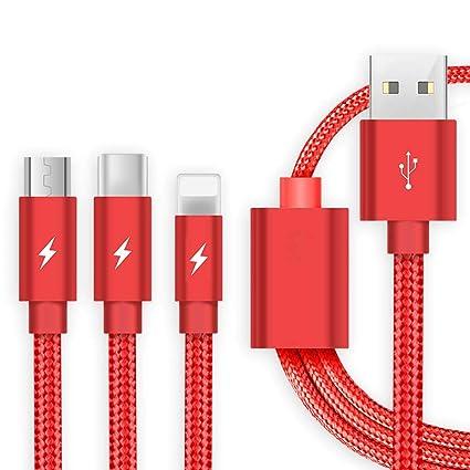 Cable de Carga USB, Cable de Cargador rápido Trenzado de ...